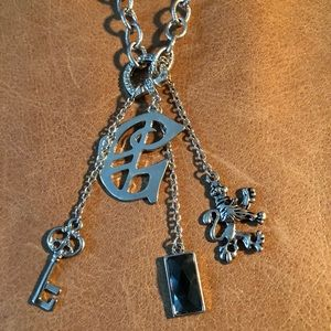 Guess charm necklace
